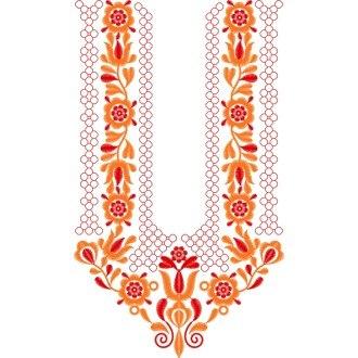 f23bf07f1 Piešťanská hladkovaná výšivka VLADIMÍR - farebná varianta: oranžová,  červená svetlá